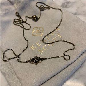 Kendra Scott antique gold Riley necklace